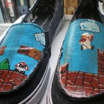 Hand-painted Super Mario Bros shoes [pic]