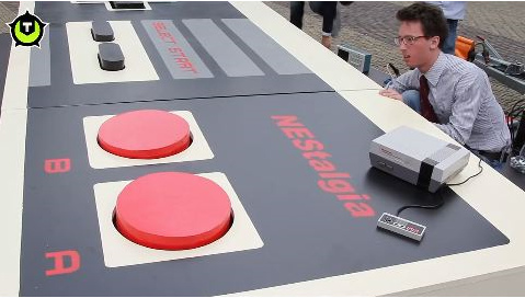 World's largest working NES controller