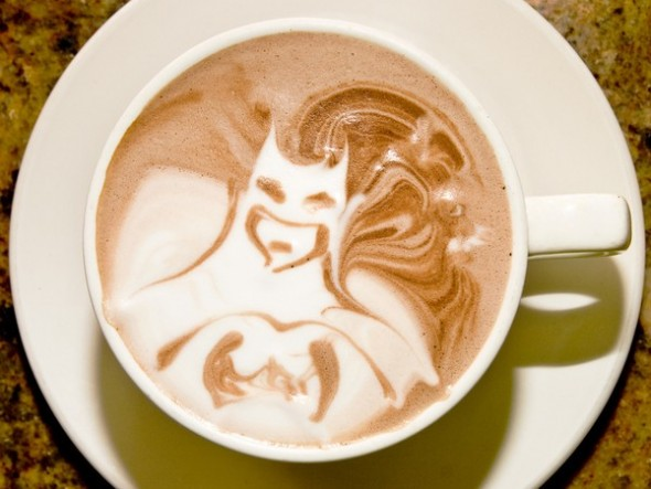 Batman Latte Art