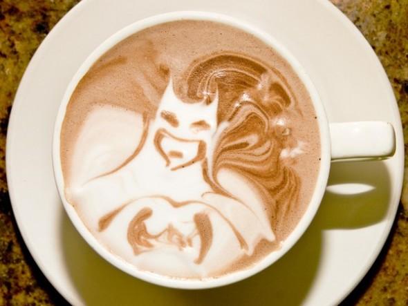 Batman Latte Art