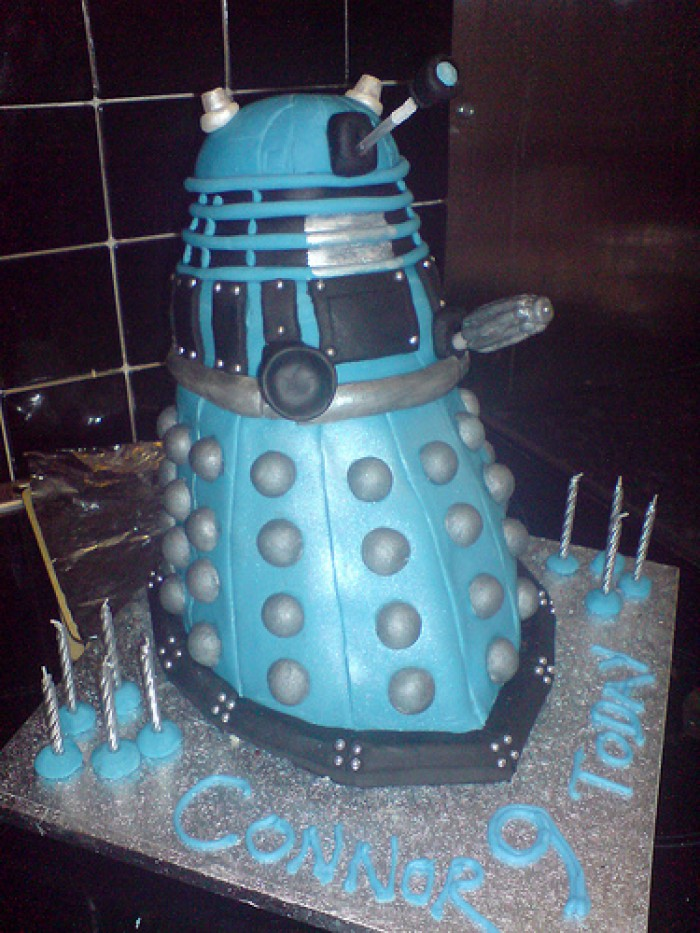 Blue Dalek Doctor Who Birthday Cake