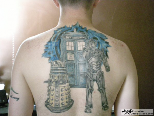Doctor Who Back Tattoo