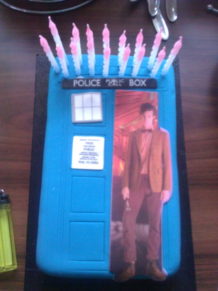 Doctor Who TARDIS Birthday Cake