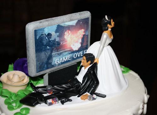 Gaming Addict Wedding Cake