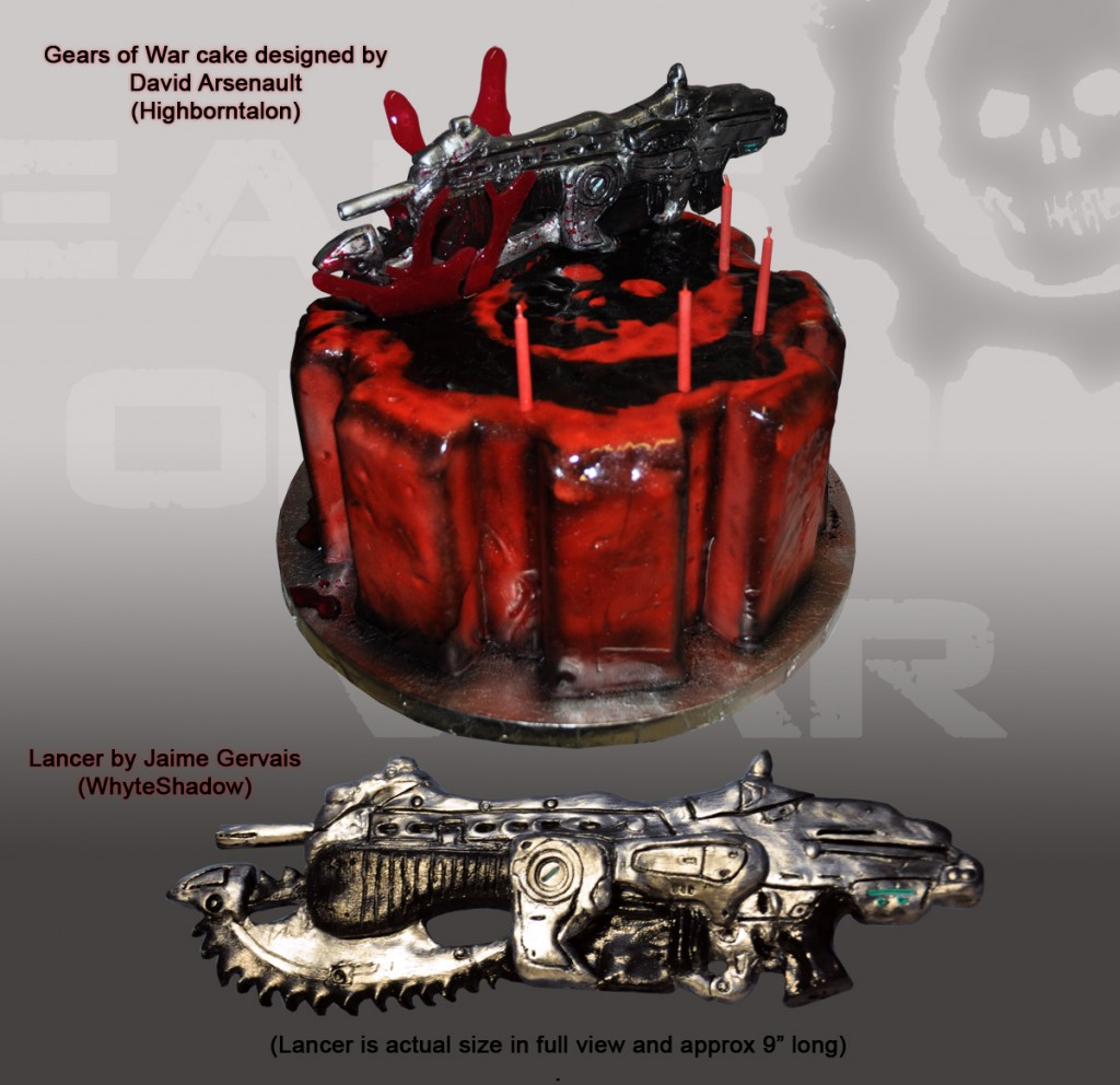 Gears of War cake by whyteshadow