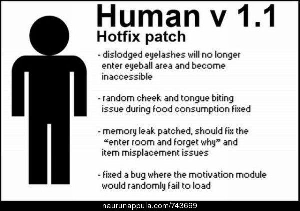 Human v 1.1 hotfix patch