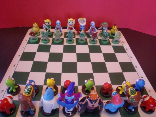 Another View of The Legend of Zelda Chess Set