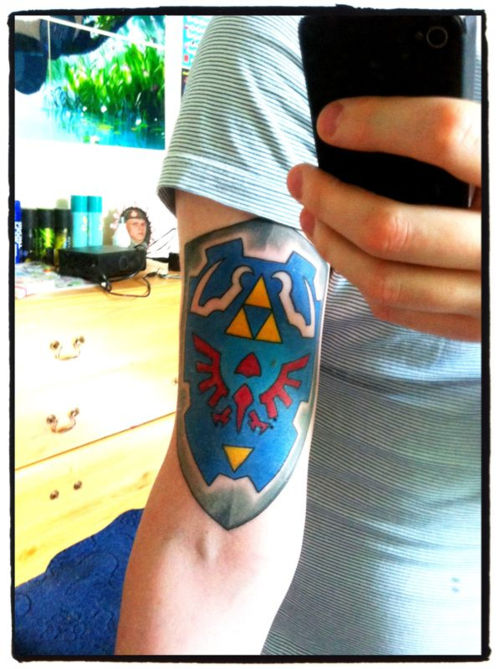 Legend of Zelda Hyrule Shield Tattoo