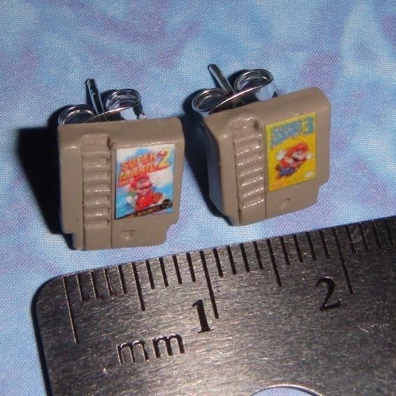 NES Game Cartridge Earrings