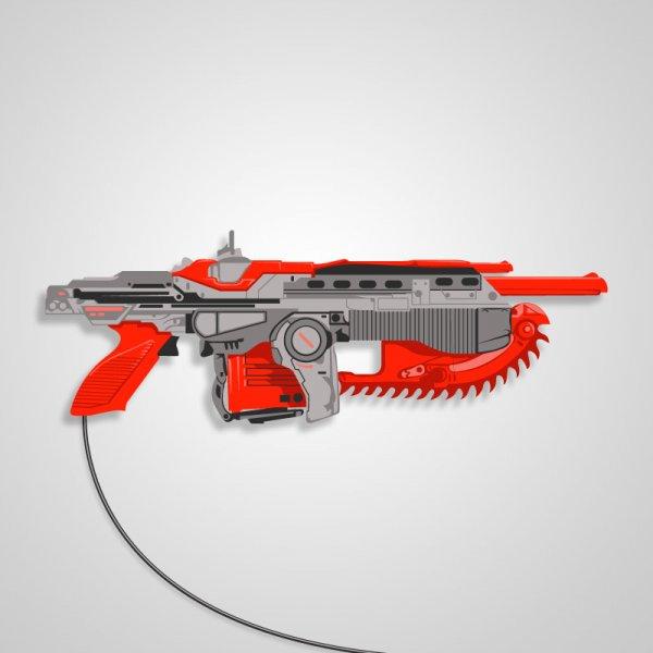 NES Zapper Gears of War hybrid gun