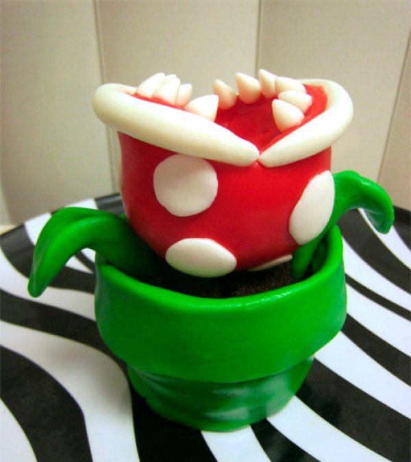 Super Mario Bros Piranha Plant Cupcake