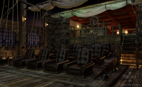 Pirates of the Caribbean Themed Home Theater 2
