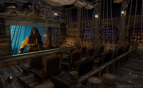 Pirates of the Caribbean Themed Home Theater