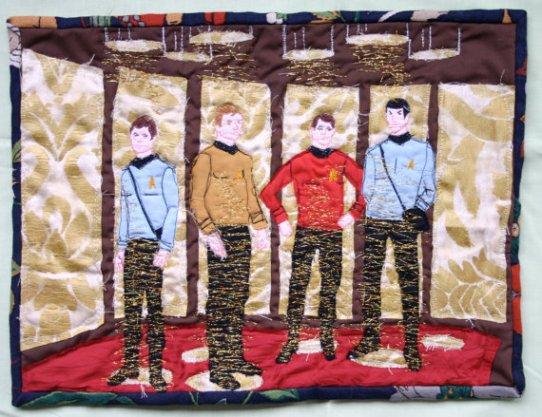 Star Trek Transporter Beam Quilt
