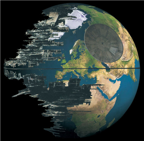 Star Wars Death Star as Earth