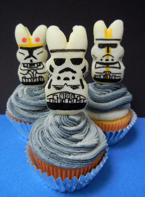 Star Wars Stormtrooper Peep Bunny Cupcakes