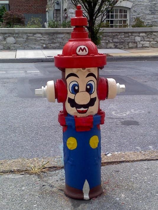 Super Mario Fire Hydrant