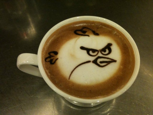 Angry Birds Latte Art