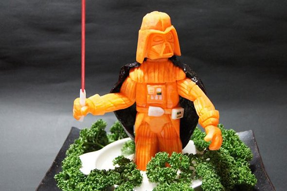 Darth Vader Made Out Of Carrots