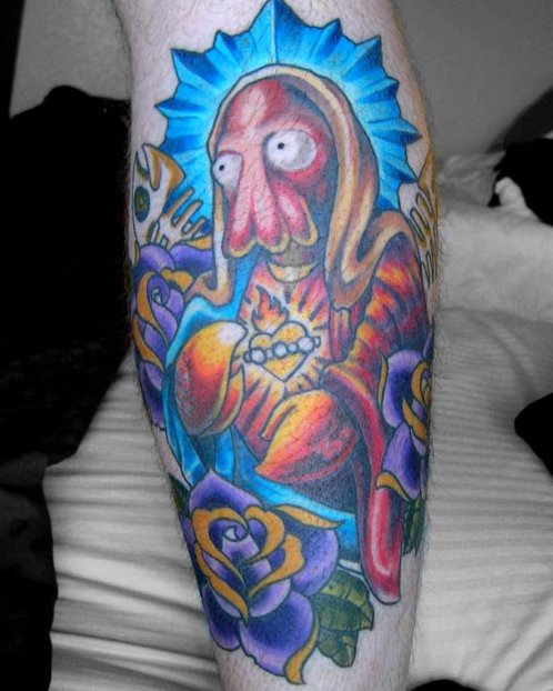 Futurama Savior Zoidberg Tattoo