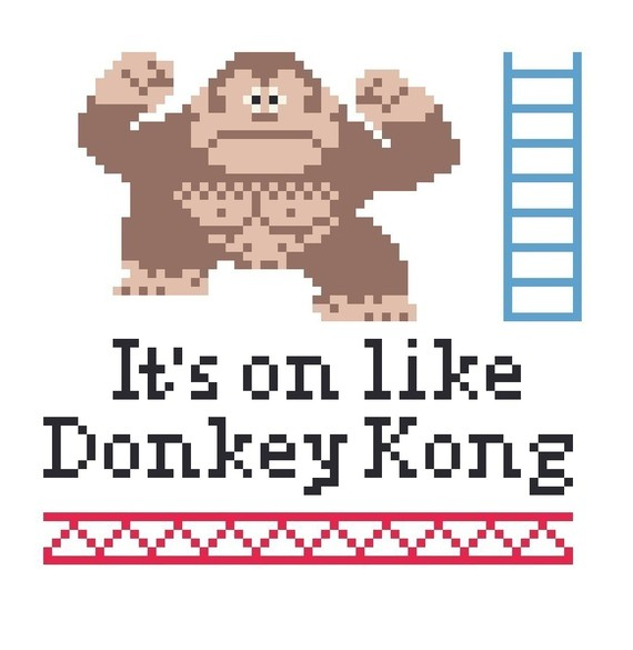 Its On Like Donkey Kong Cross Stitch Pattern