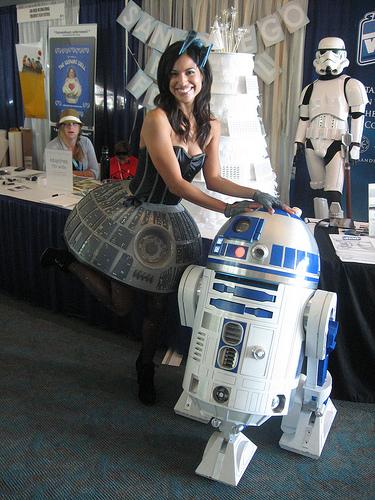 Jennifer Landa in a Death Star Dress. Photo by Bonnie Burton