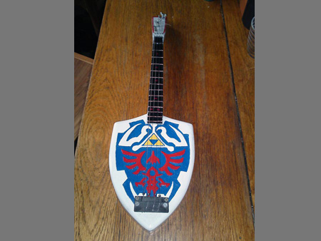 Legend of Zelda Hylian Shield Bass Guitar