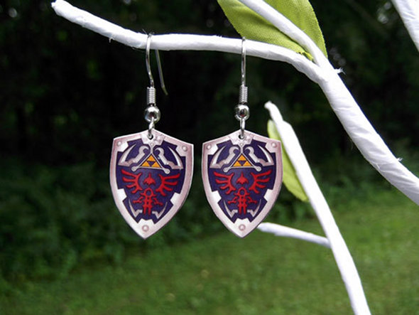 Legend of Zelda Hylian Shield Earrings