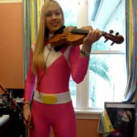 Pink Ranger with a Violin