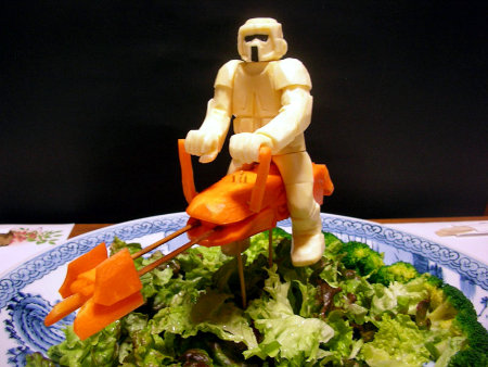 Star Wars Imperial Scout Trooper on an Endor Salad