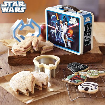 Star Wars Sandwich Cutters with Vintage Style Tin Lunchbox
