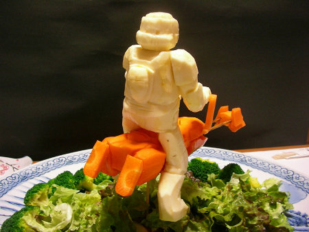 Star Wars Scout Trooper Made From Sweet Potatoes and Carrots
