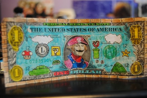 Super Mario Bros Dollar Bill