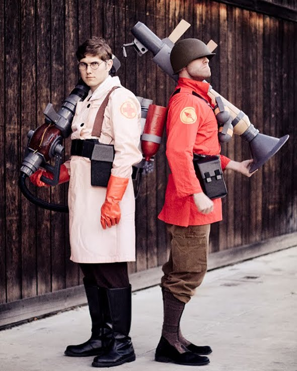 TF2 Medic and Soldier Cosplay