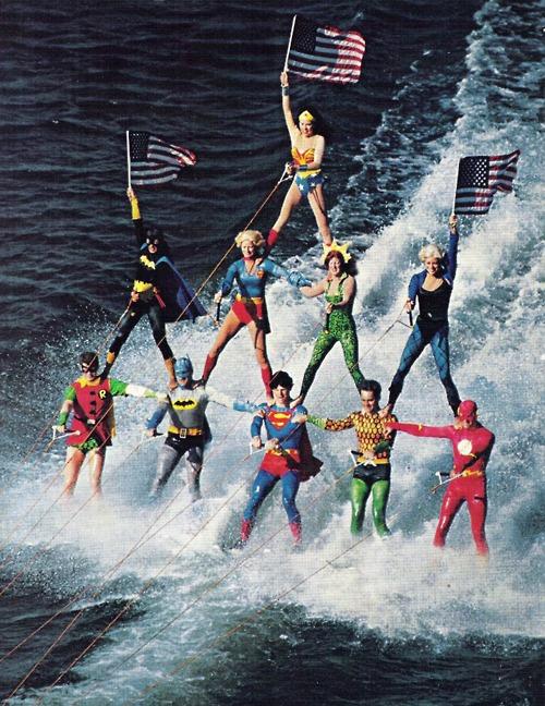 Water Skiing Superheroes