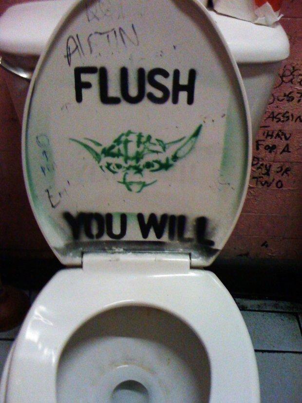 Yoda  Flush the Toilet You Will  pic. X Men Bathroom Sign  pic    Global Geek News