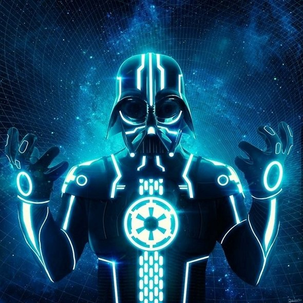Darth Vader Tron Mash-up