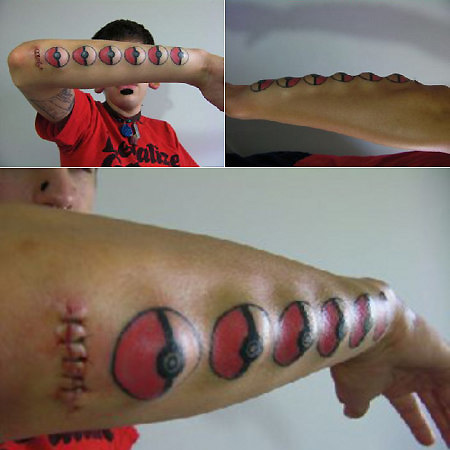 Disgusting Pokemon Pokeball Tattoos