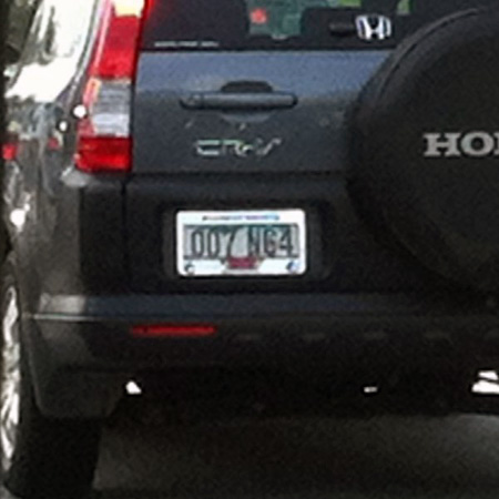 GoldenEye N64 License Plate