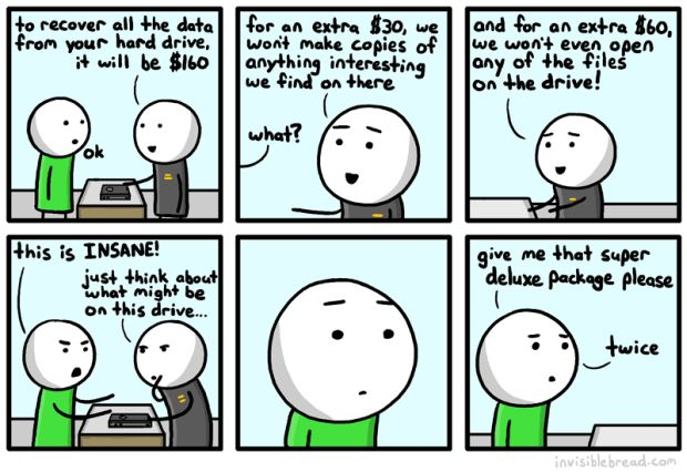 Hard Drive Recovery Serivce Cartoon
