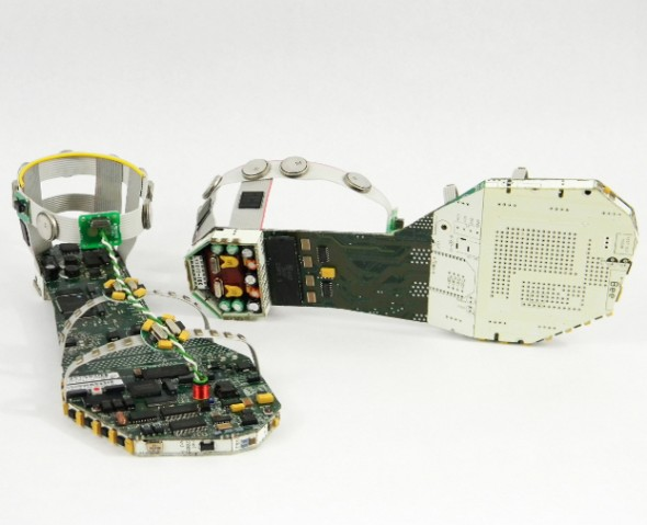 Sandals Made of Discarded Computer Parts
