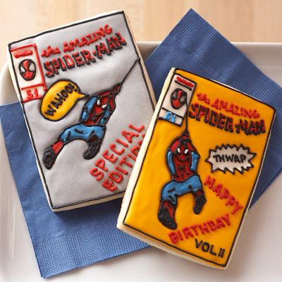 Spider-Man Comic Book Cookies