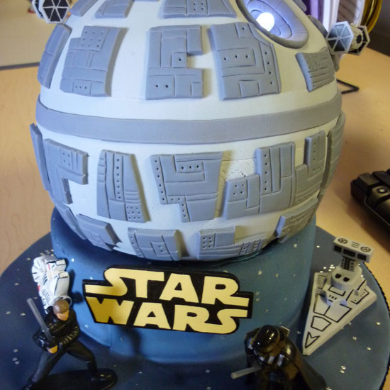 Star Wars Death Star Birthday Cake by Rachel Linhart