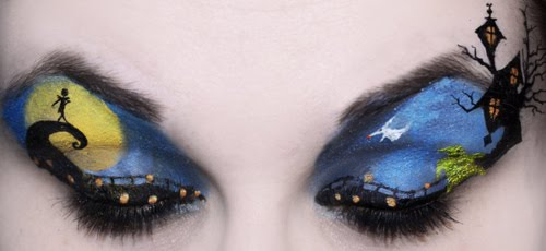 The Nightmare Before Christmas Eye Makeup Art