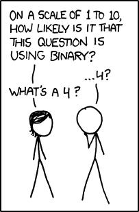 1 to 10 Binary Humor