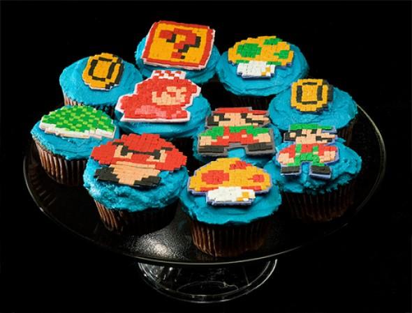8-Bit Super Mario Bros Cupcakes