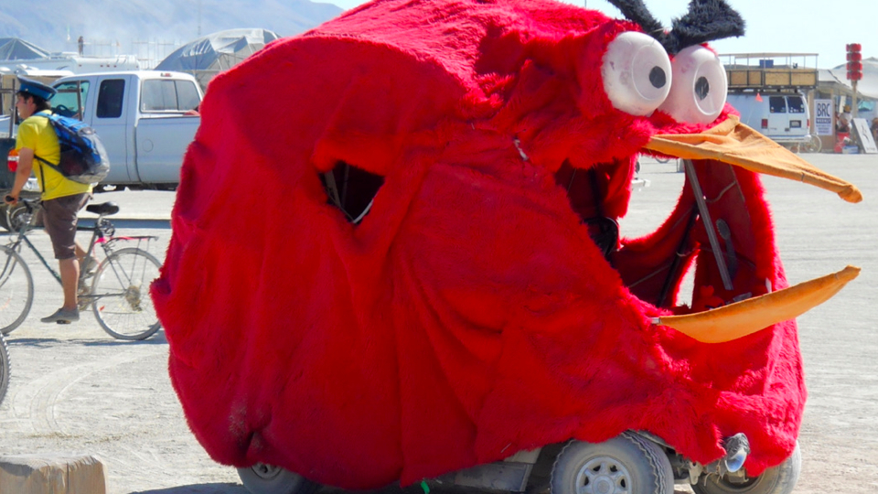 Angry Birds Vehicle at Burning Man