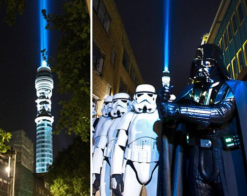 BT Tower Star Wars Lightsaber