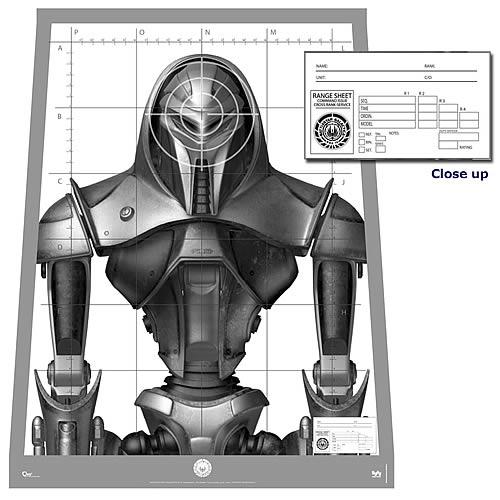 Battlestar Galactica Cylon Centurion Target Poster