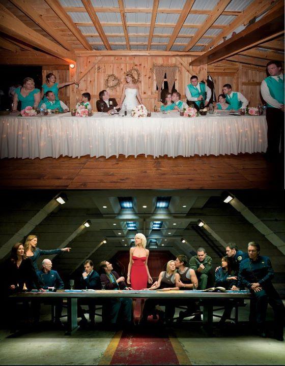 Battlestar Galactica Wedding Photo